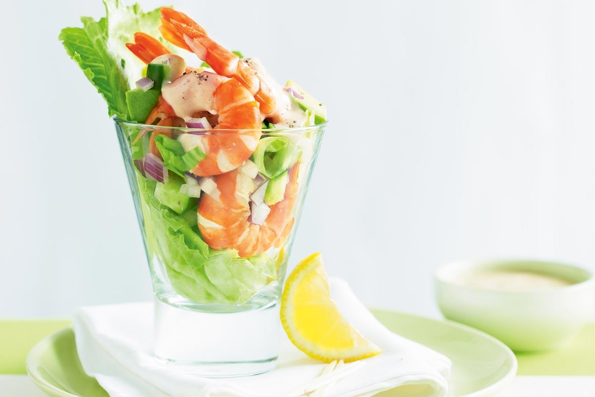 Салат-коктейль - яркое и праздничное блюдо. Фото с сайта taste.com.au