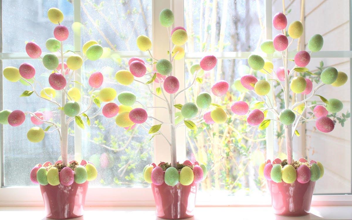 Оригинальный пасхальный декор. Фото с сайта housesdesign.ru