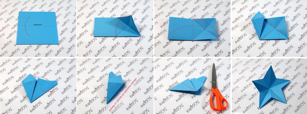 Классическая звезда из бумаги. Фото с сайта eventor.ru