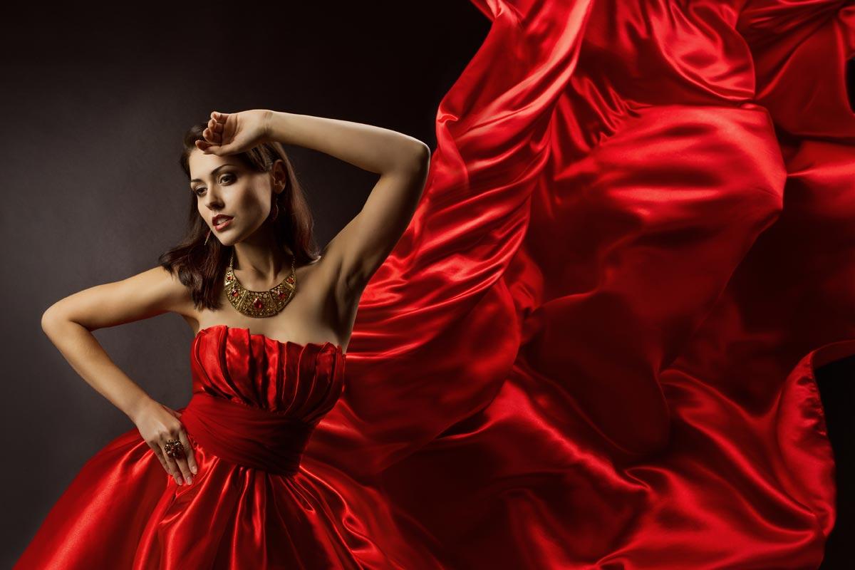 Чтобы надеть красный, нужно быть достаточно смелым. Фото с сайта pixok.com