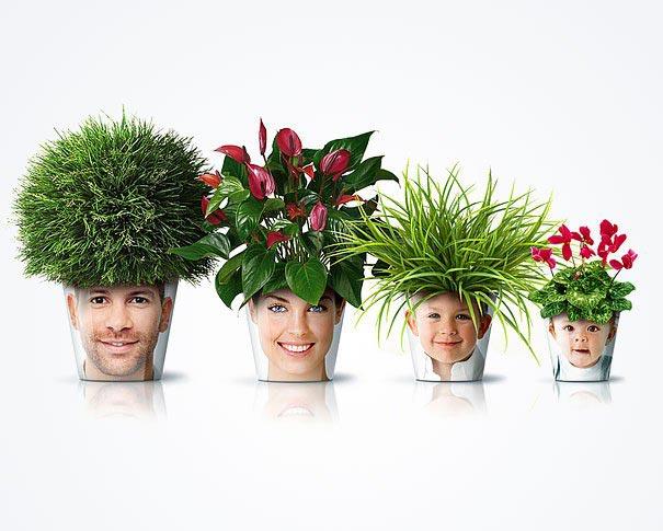 Необычные цветочные горшки. Фото с сайта woman-project.com