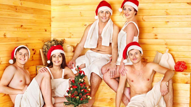 Новый год в бане. Фото с сайта batbani.ru