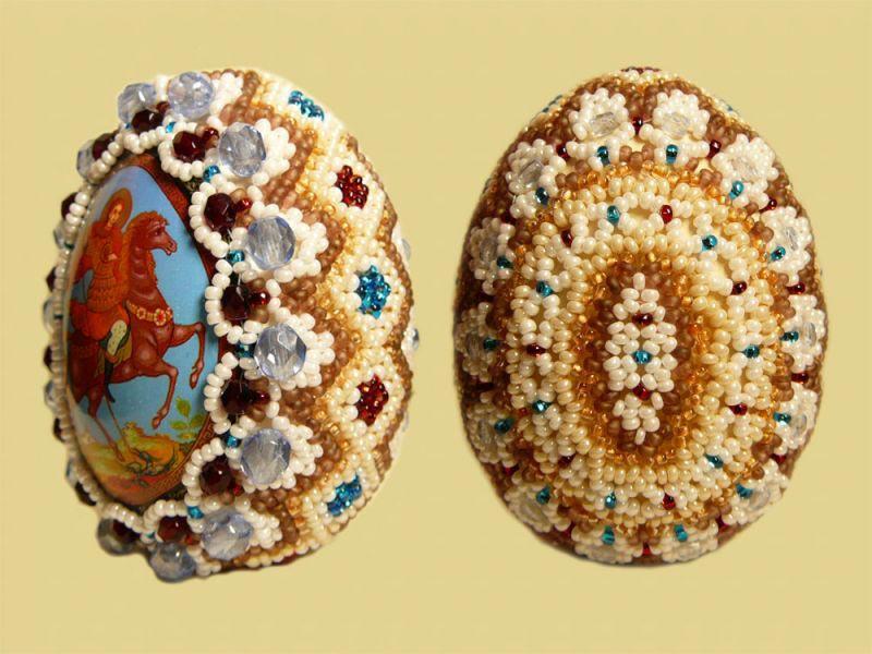Яйцо пасхальное из бисера. Фото с сайта biser.info 1