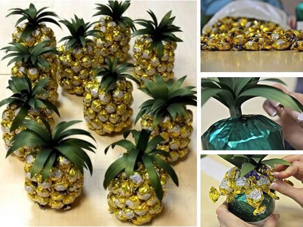 При разумном употреблении даже такие ананасы не будут вредить фигуре. Фото:ermilova-decor.ru