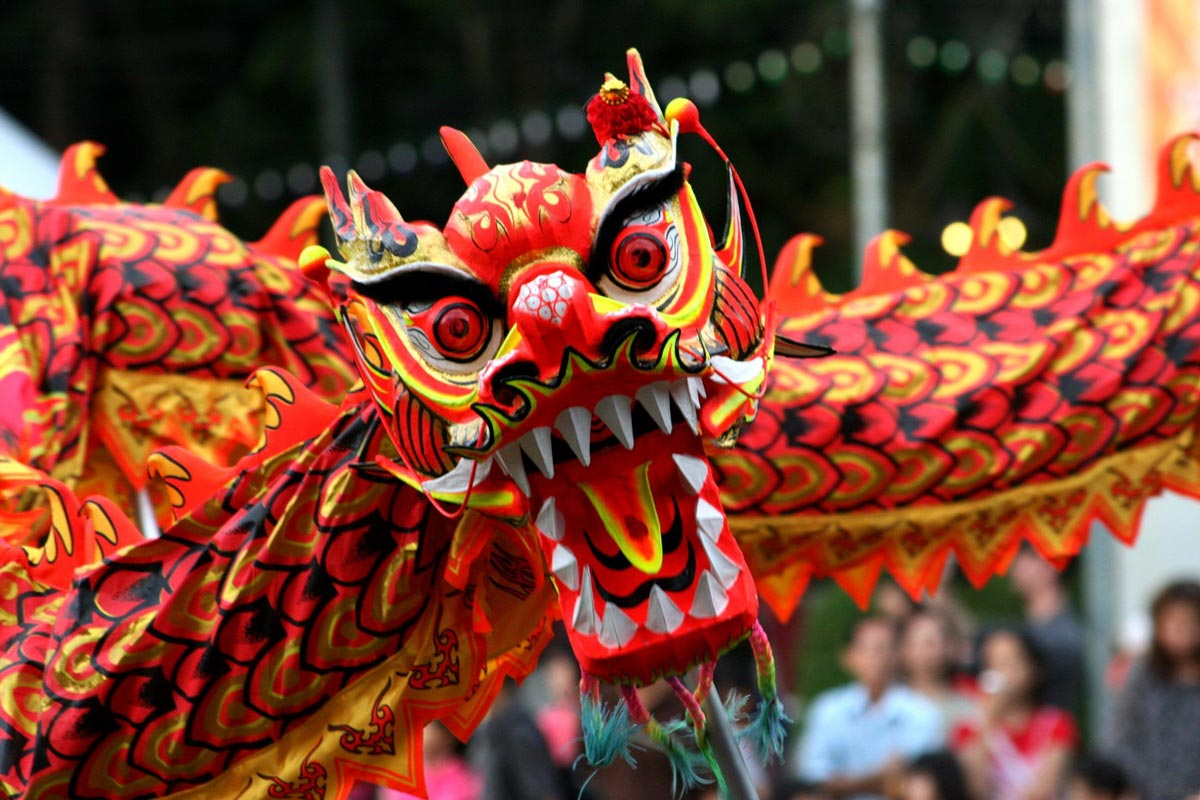 Дракон - символ Китайского Нового года. Фото с сайта heaclub.ru