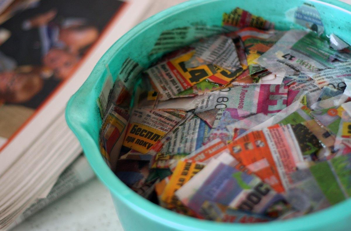 Не выбрасывайте старые газеты. Фото с сайта www.kripkrap.ru