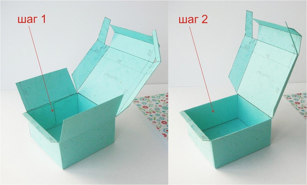 Прямоугольная коробочка для торта