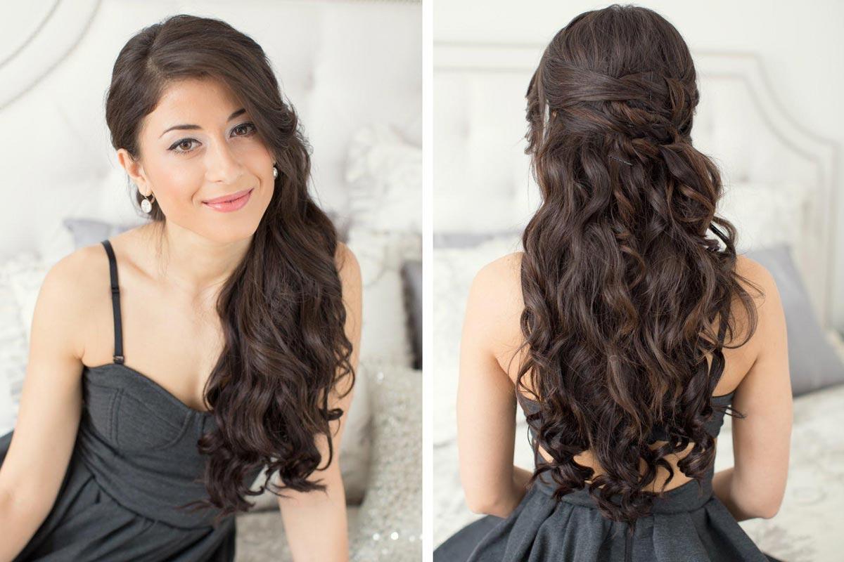Легкая укладка на длинные волосы. Фото с сайта maskahair.ru