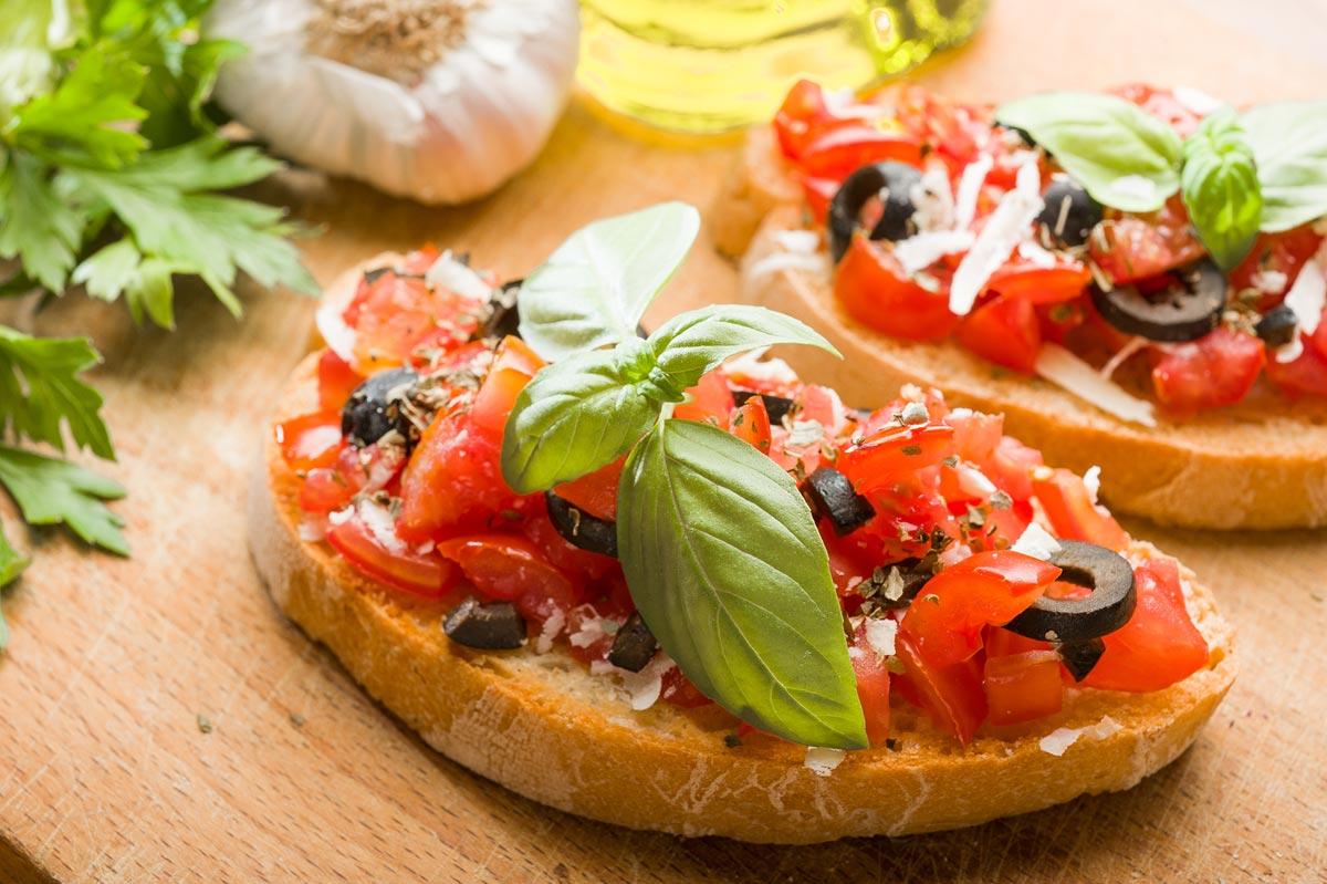 Овощные бутерброды. Фото с сайта mytravelintuscany.com