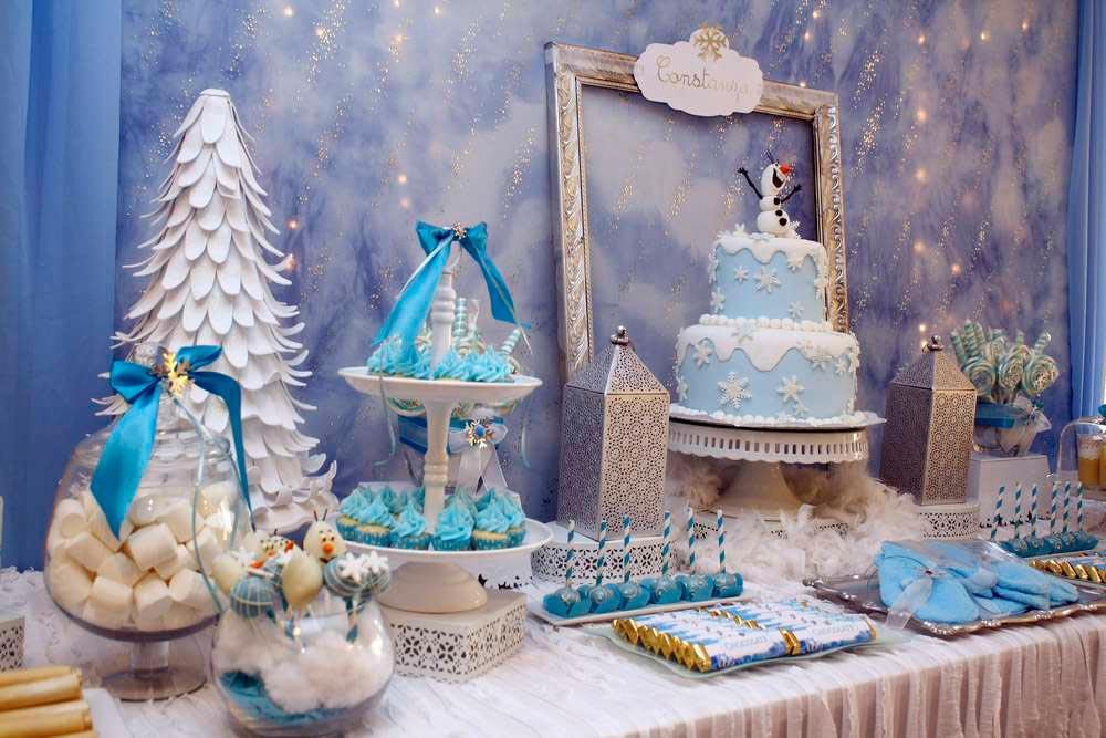 """Оформление дня рождения в стиле """"Холодное сердце"""". Фото с сайта photos.catchmyparty-cdn.com"""