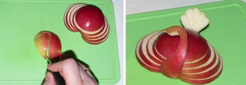 Простой лебедь из яблока. Фото с сайта www.myjulia.ru
