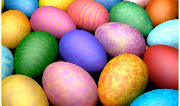 """""""Мраморные"""" крашеные яйца"""