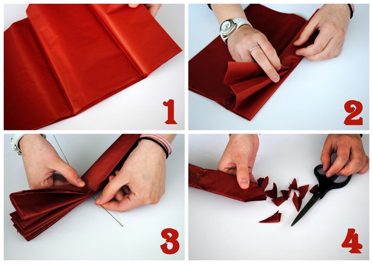 Как сделать шары из бумаги. Фото с сайта blog.krrb.com