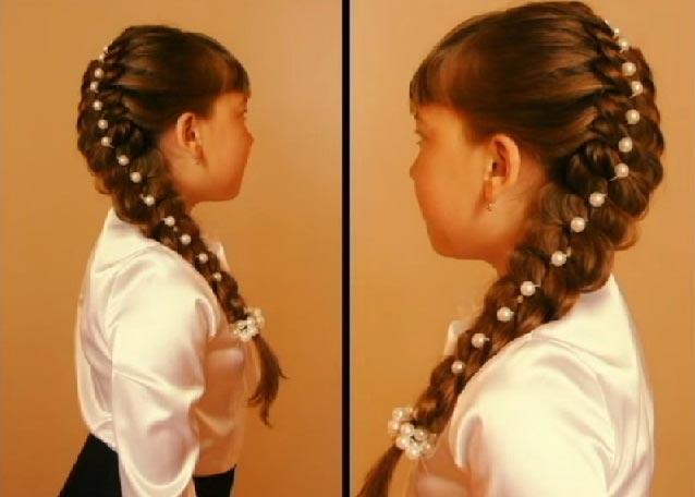Жемчужная нитка украсит даже обычную косу