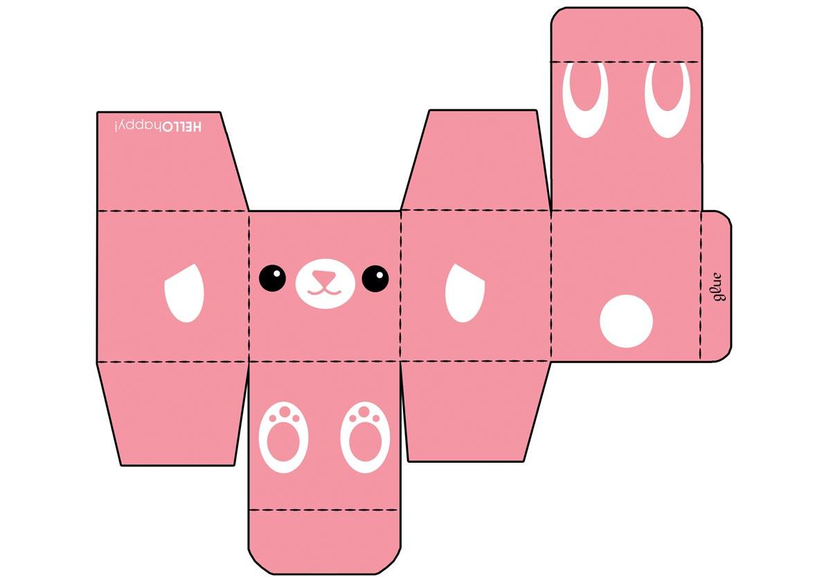 Превратите обычную коробку в симпатичного зверька. Фото с сайта 7darov.com