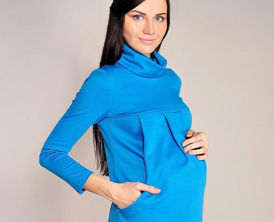 Синий - один из удачных цветов для будущей мамочки. Фото с сайта wildberries.kz
