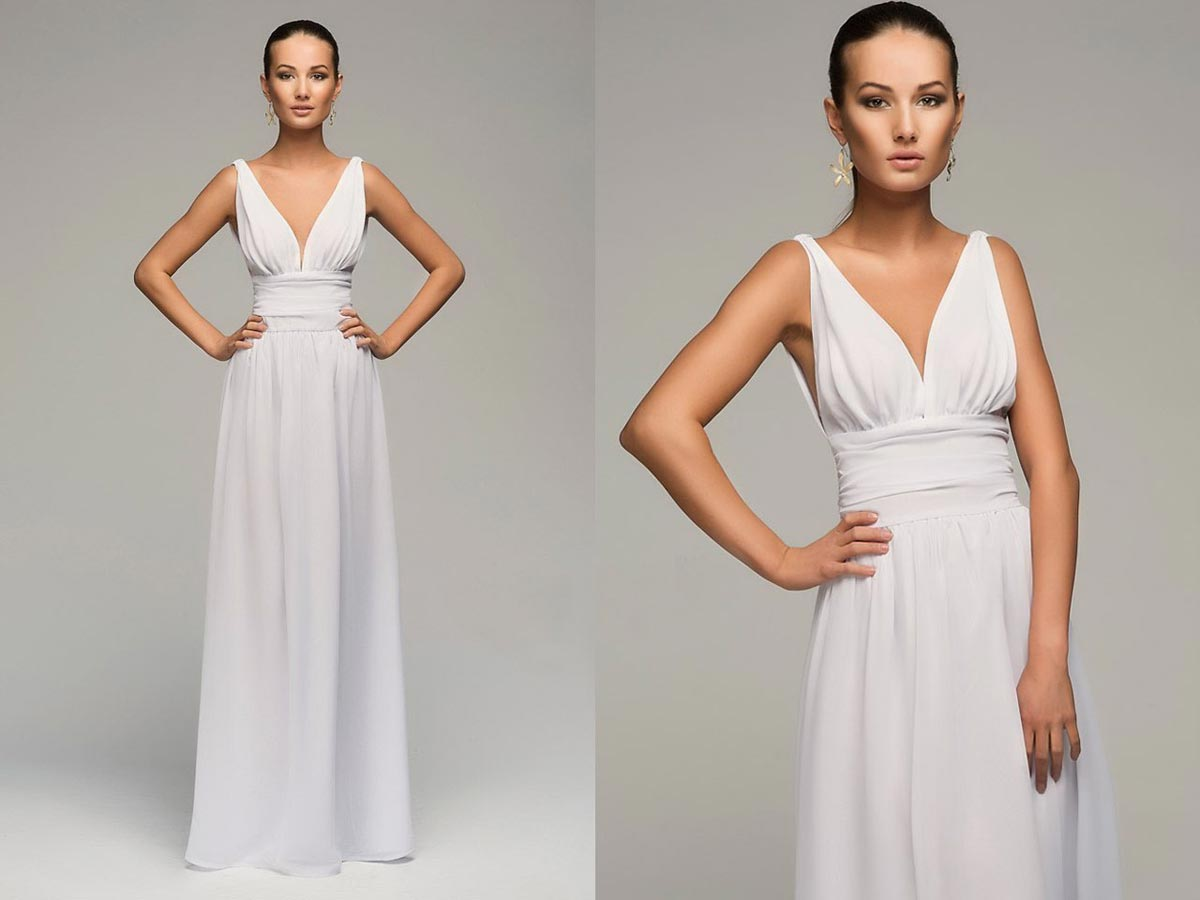 Классический крой длинного платья подчеркнет любую фигуру. Фото с сайта www.shop-tiptop.com