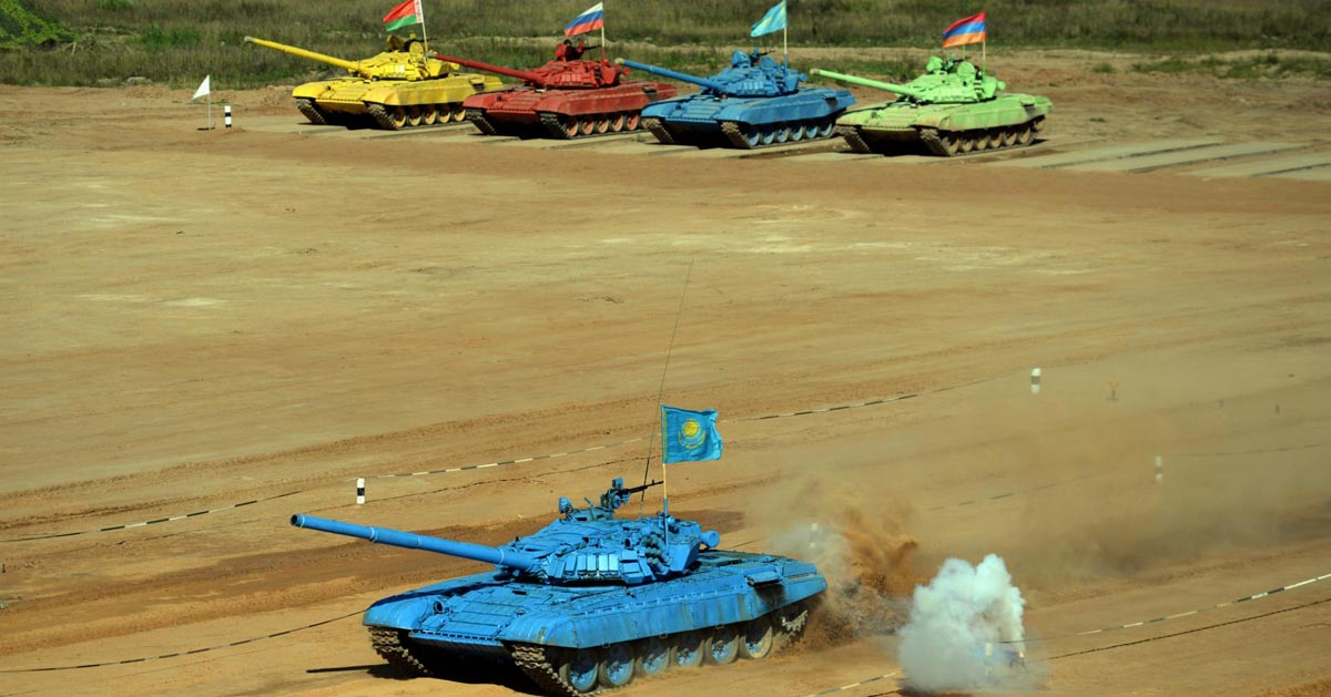 Танковый биатлон. Фото с сайта www.directmatin.fr