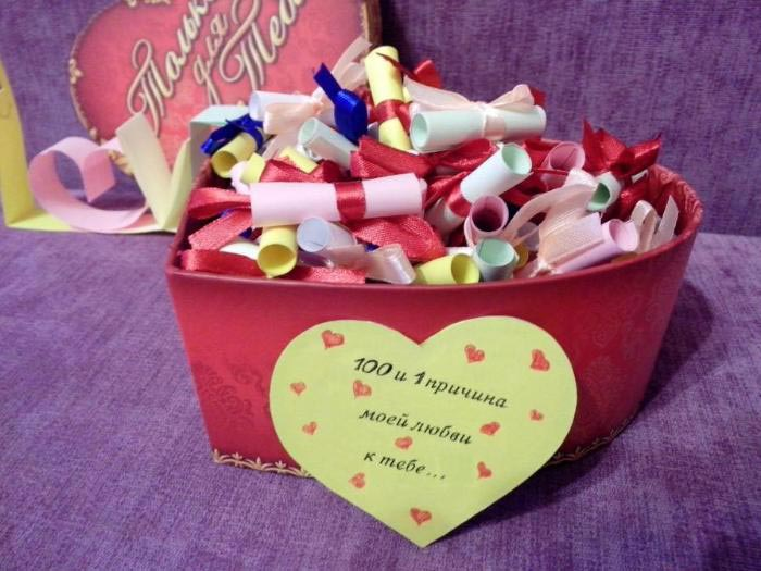 """""""100 причин моей любви"""" в подарок. Фото с сайта eva.ru 1"""