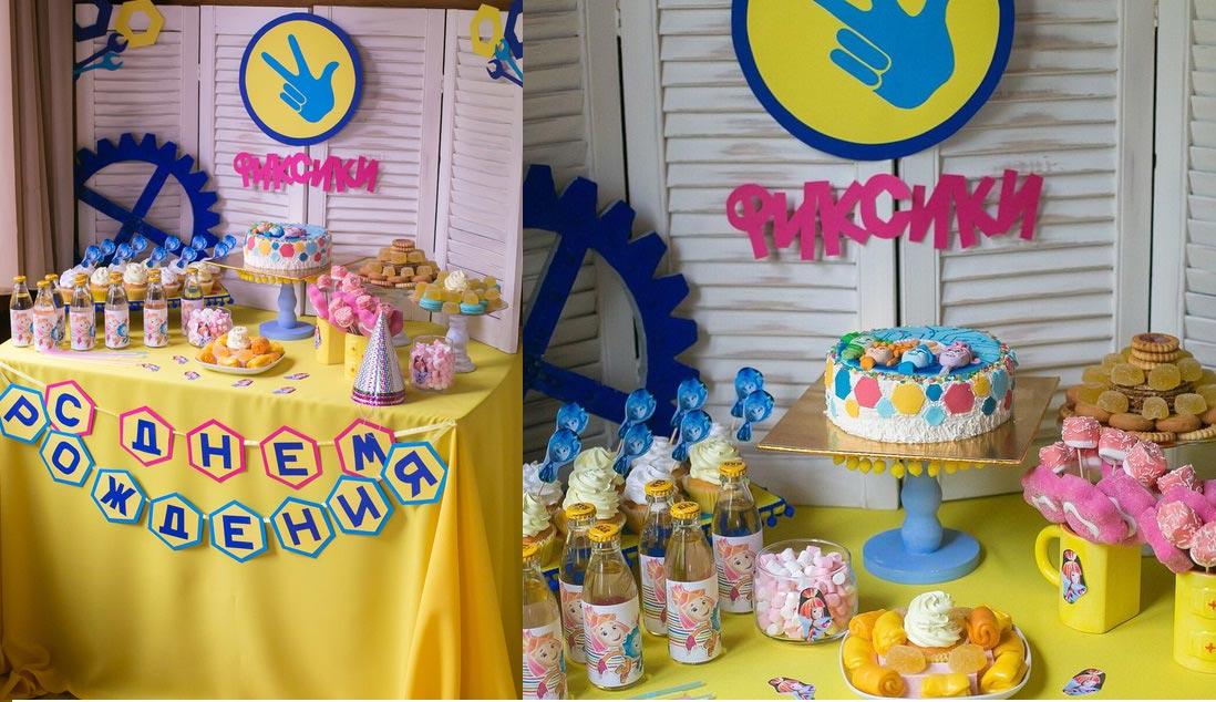 """Кэнди-бар на дне рождения """"Фиксики"""". Фото с сайта www.livemaster.ru"""