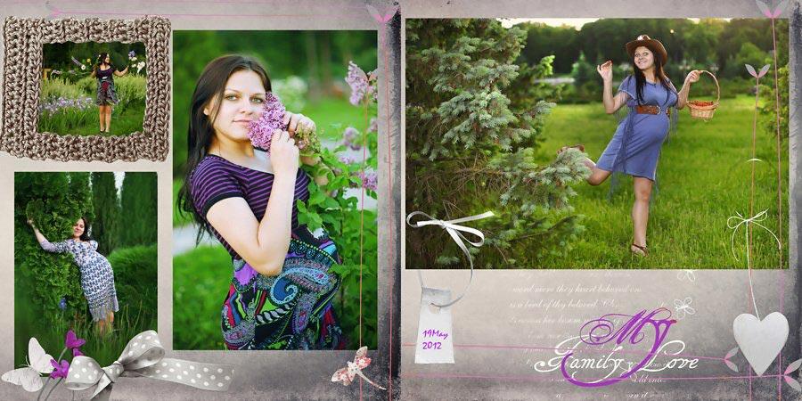 Готовая раскладка фото на странице. Фото с сайта hiblogger.net