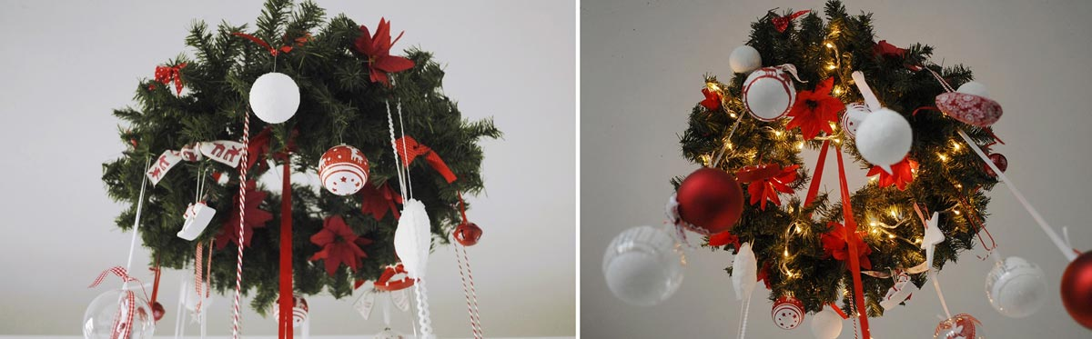 Необычный подвесной венок. Фото с сайта maar.se