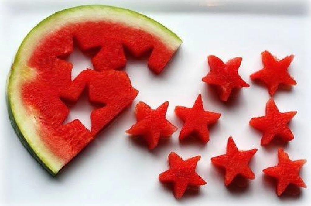 Арбузные звезды. Фото с сайта www.simpleychic.es