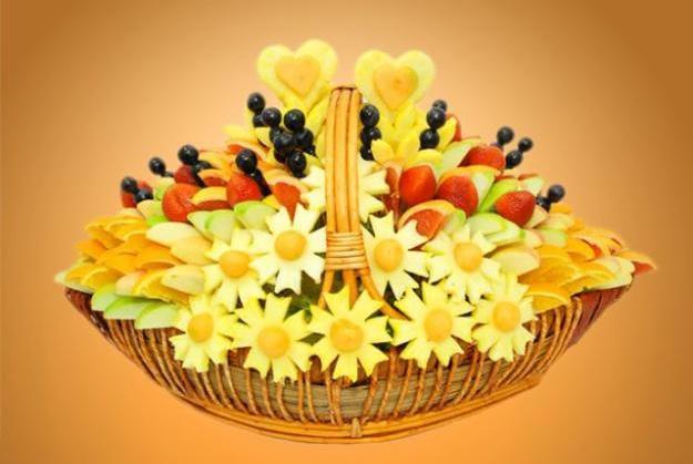 Букет только из фруктов. Фото с сайта showline-rostov.ru