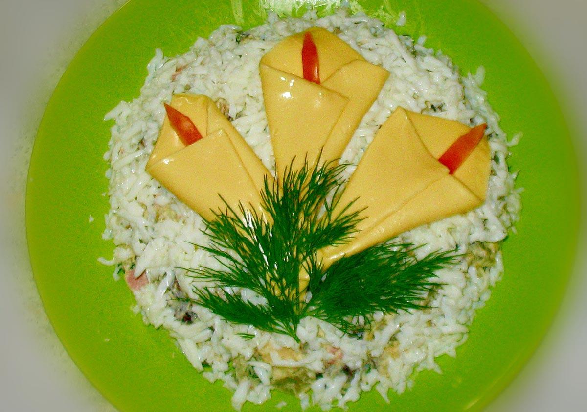 Каллы из сыра. Фото с сайта irinina.co