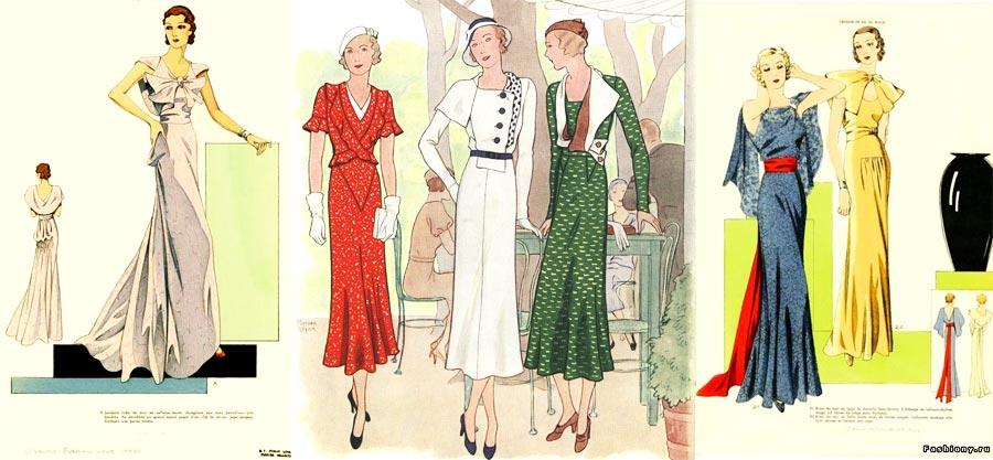 30-е года стиль в одежде