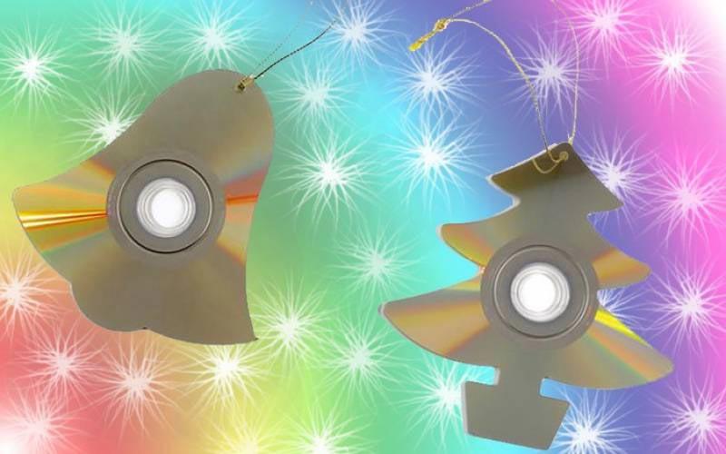 Украшения из дисков. Фото с сайта happy-giraffe.ru