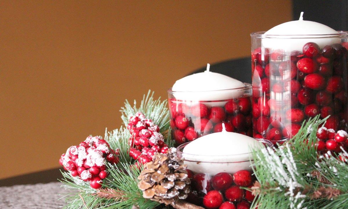 Новогодние композиции из свечей. Фото с сайта www.tokidoo.com