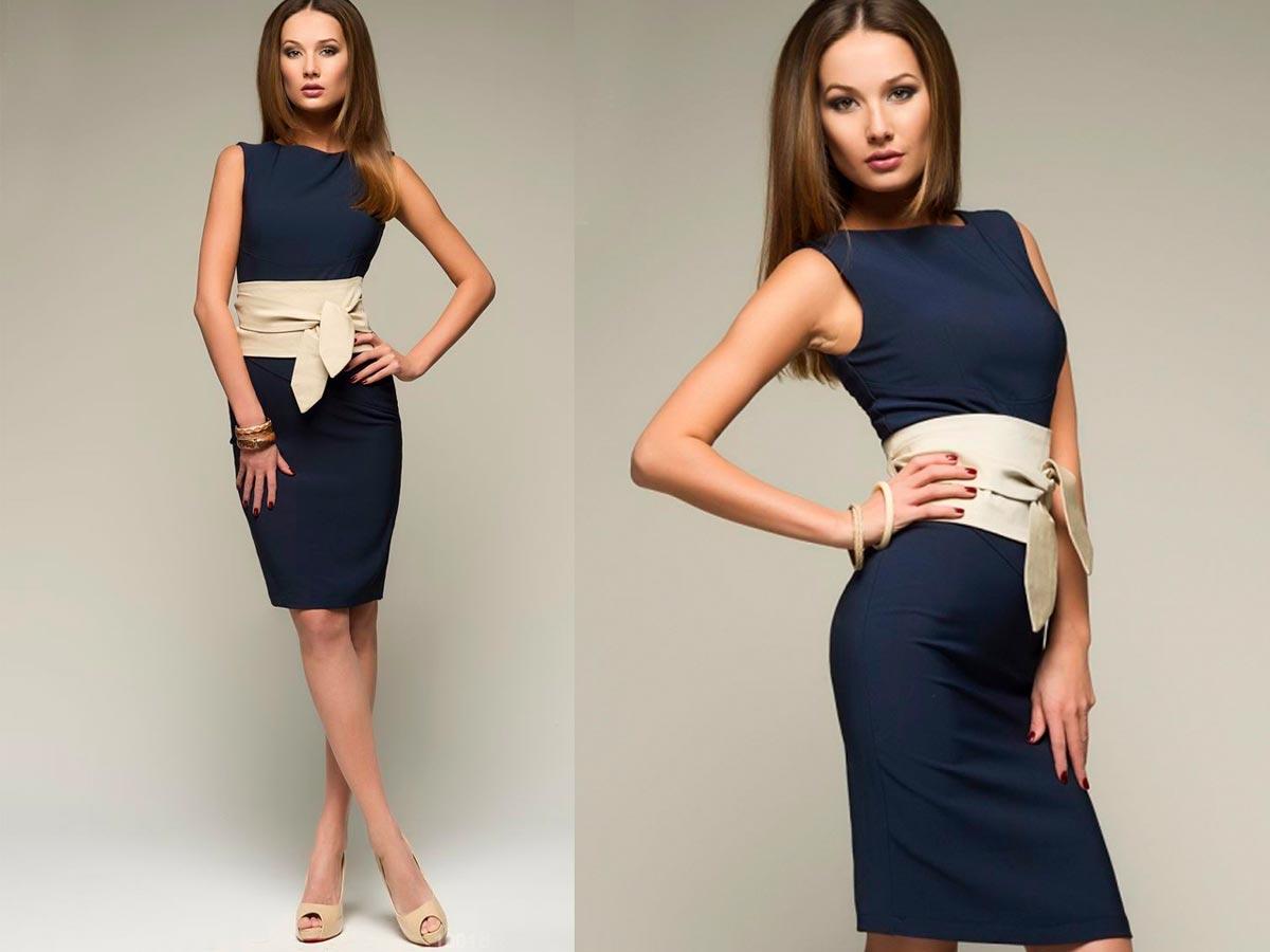 Темно-синее платье. Фото с сайта www.shop-tiptop.com