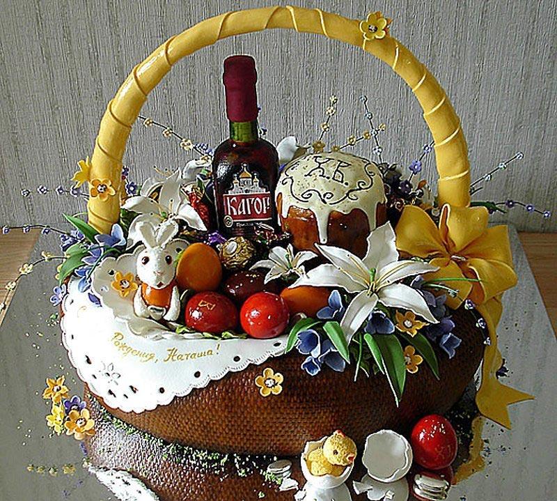 Богатая пасхальная корзинка. Фото с сайта img-fotki.yandex.ru