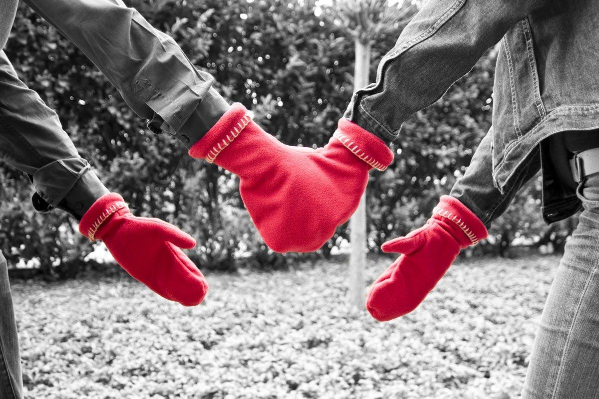Варежки для пары. Фото с сайта wohnideen-mohr.de