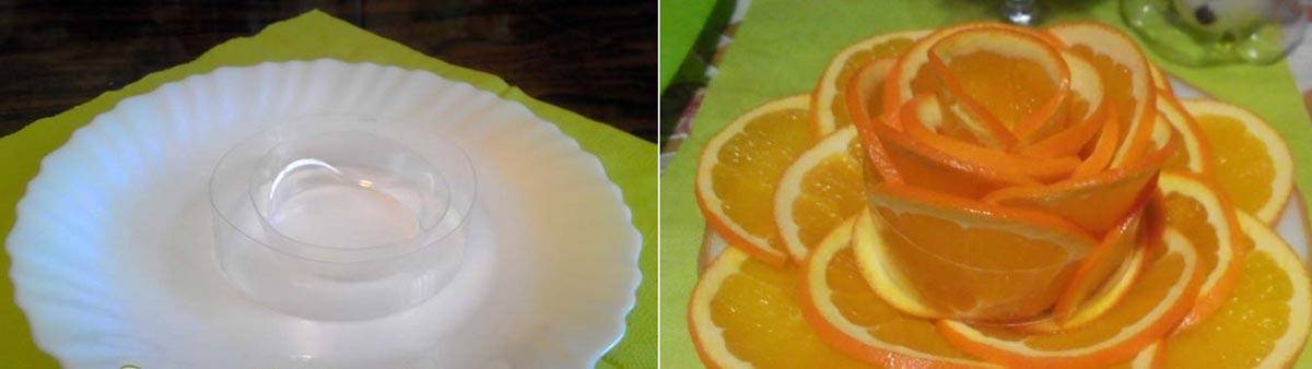 Розочка из апельсина. Фото с сайта jenskiimir.ru