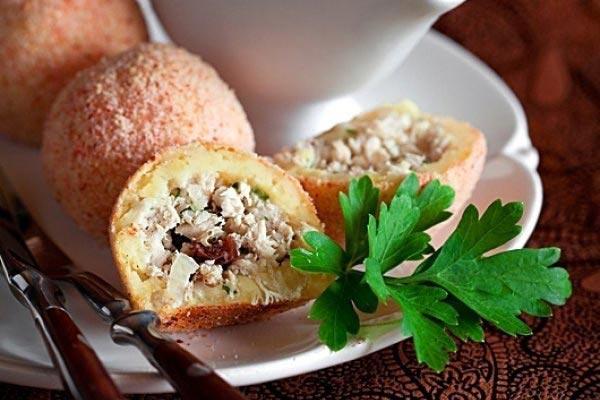 Картофельные крокеты с начинкой. Фото с сайта afisha-eda.ru