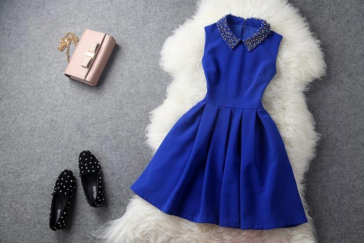 Образ с синим платьем. Фото с сайта login.master-tao.com