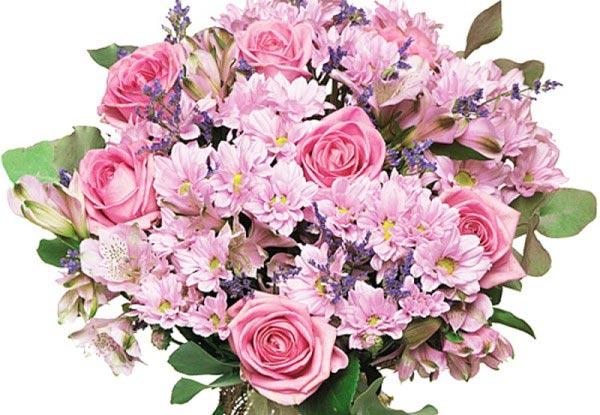 Оригинальный букет из разных видов цветов. Фото с сайта florilove.kiev.ua