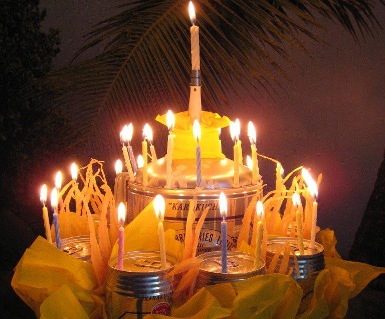 Пивной торт на день рождения. Фото с сайта sakh.name