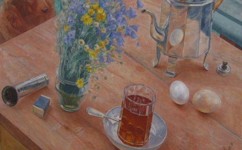 Граненые стаканы становились центром натюрмортов