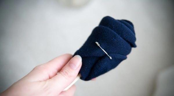 Как сделать розочку из носка. Фото с сайта fashiontarget.ru