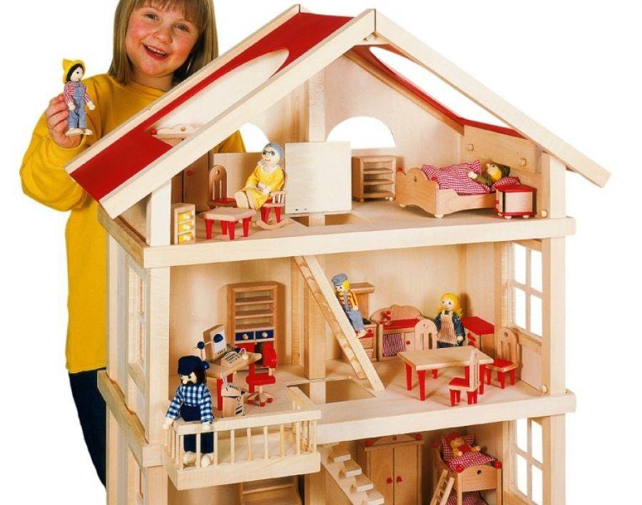 Кукольный домик - поистине царский подарок для девочки. Фото с сайта zaislai.janida.lt