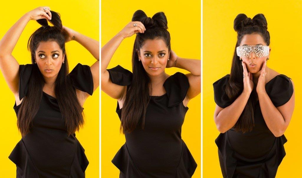 """Модная прическа - """"бант"""" из волос. Фото с сайта bezumo.ru"""