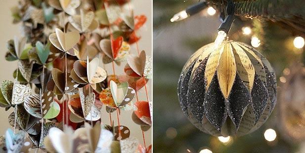 Очаровательные украшения на елку из бумаги. Фото:kleo.ru