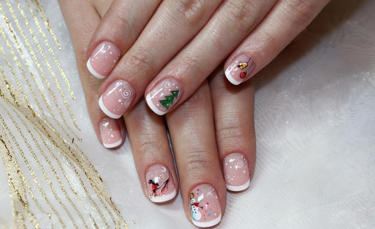 Новогодние рисунки на ногтях. Фото с сайта wsesama.ru
