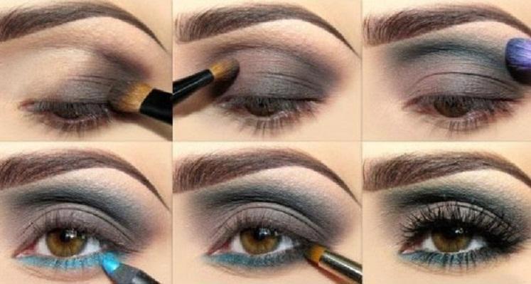 Несложный макияж для карих глаз. Фото с сайта imolodost.com