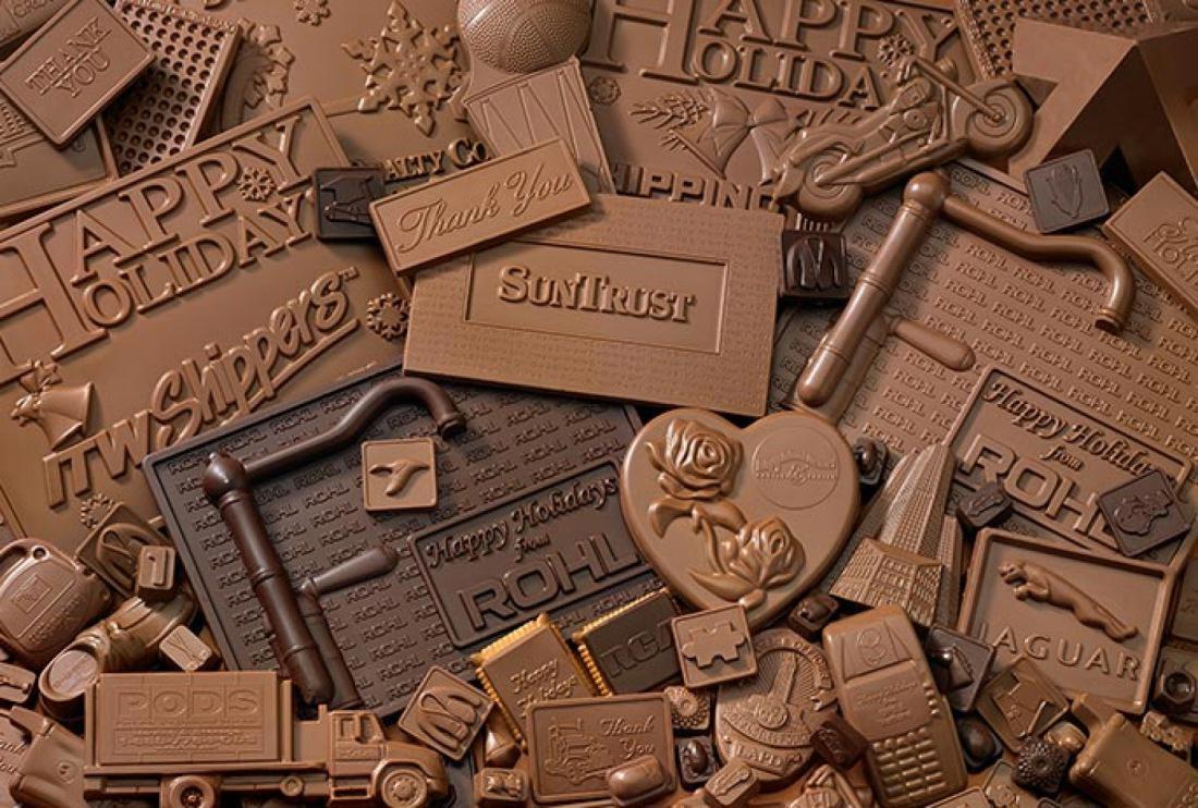Открытки из шоколада. Фото с сайта fb.ru