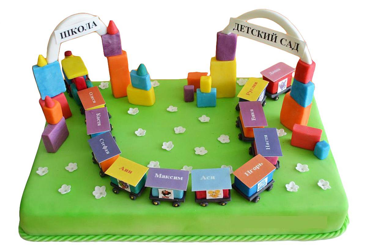 Тематический торт для детского сада. Фото с сайта mrcakes.ru