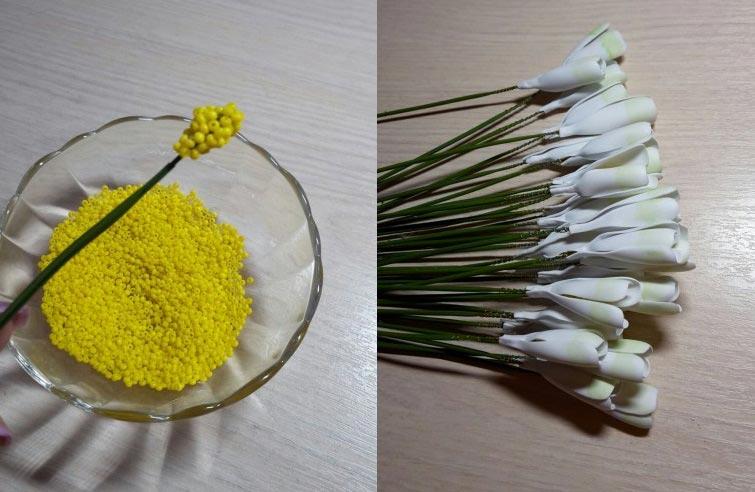 Тычинки из бисера. Фото с сайта www.maam.ru